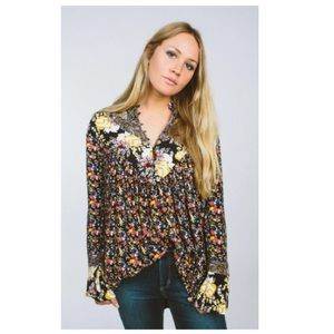 Free People Womens Wildflower Tunic Blouse